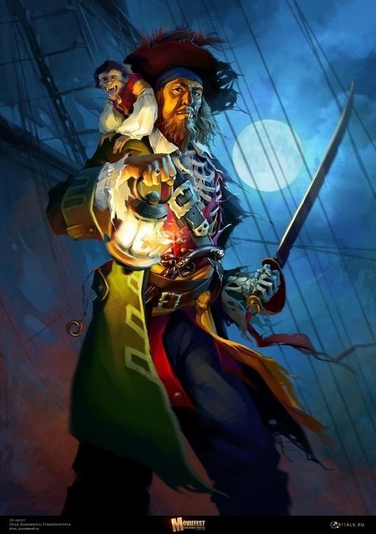 Hector Barbossa Poster Moviefes - karambola-8955 | ello