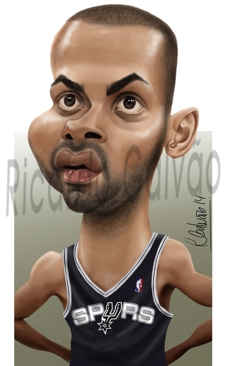 Tony Parker - illustration, painting - rgalvao | ello