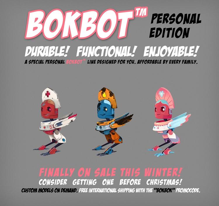 bokbot poster - robot - mopka-1265 | ello