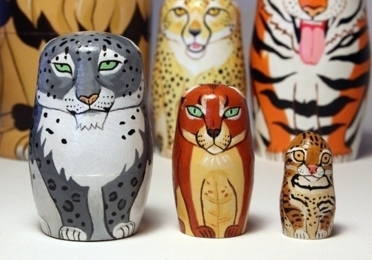 Wild cats - nestingdolls, snowleopard - thejoska | ello