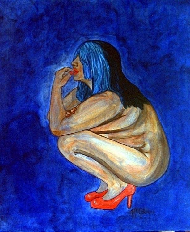 Blue - painting - kiwi-1078 | ello