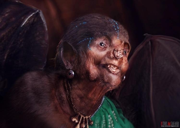 bat woman - characterdesign - emanalshehabi | ello