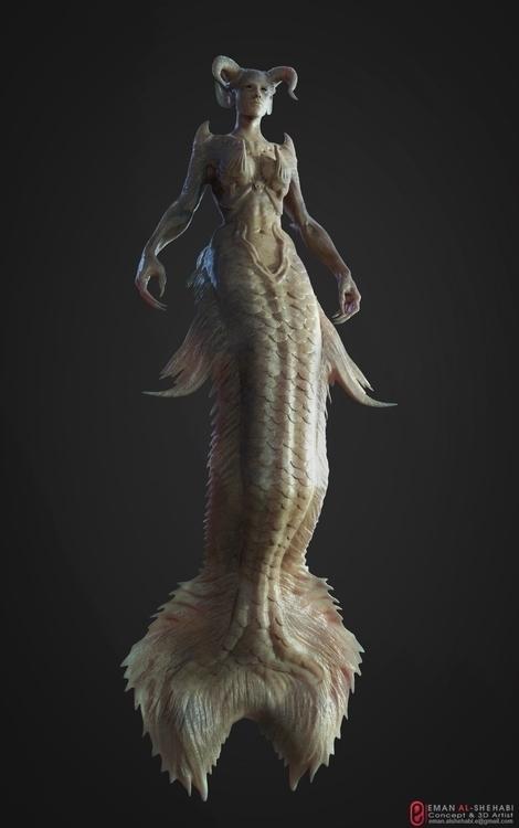 Mermaid sculpt - characterdesign - emanalshehabi | ello