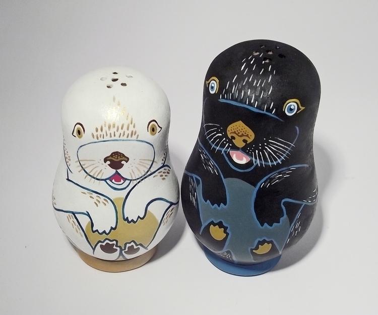 Lovely Otters - otter, matroyshka - thejoska | ello