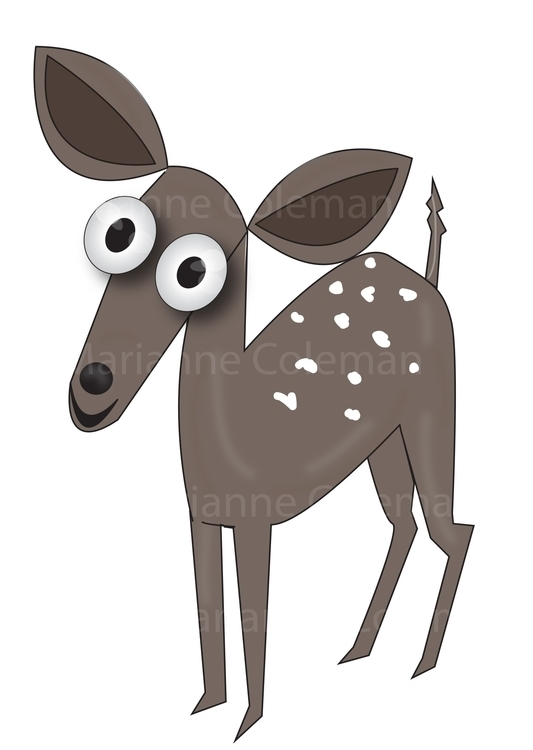 Nic deer - illustration, characterdesign - kiwi-1078 | ello