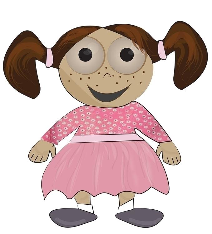 girl - illustration, characterdesign - kiwi-1078 | ello