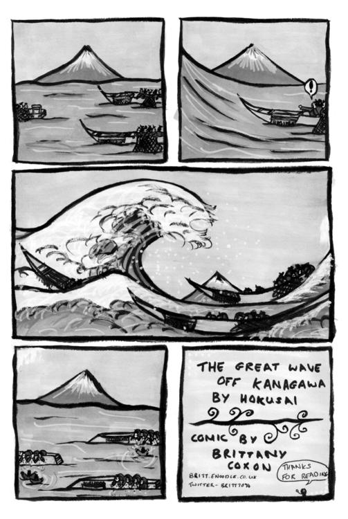 Great Wave comic. credit panel  - brittcoxon-9543 | ello