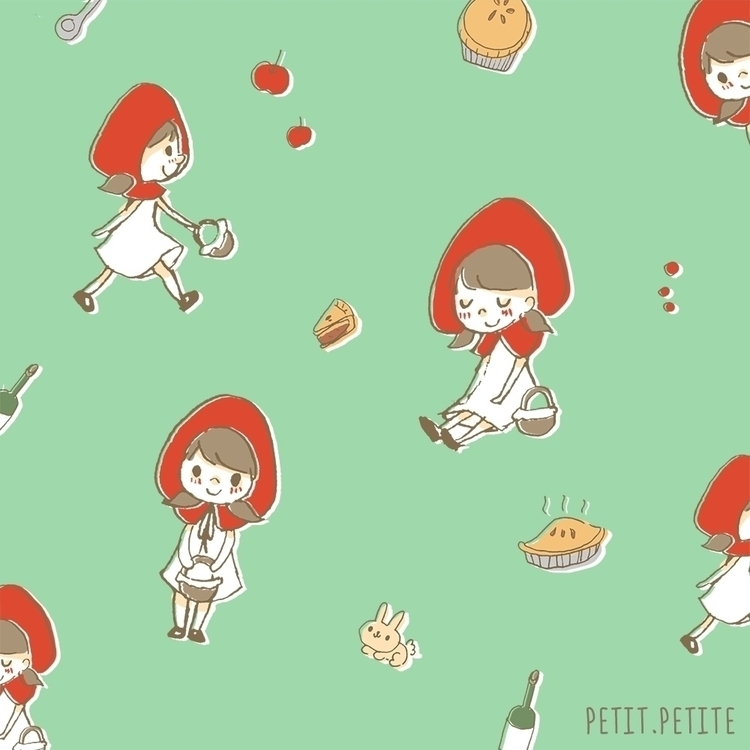 red riding hood - illustration, girl - petitpetite   ello