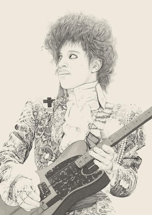 prince Rogers Nelson portrait p - poposter | ello