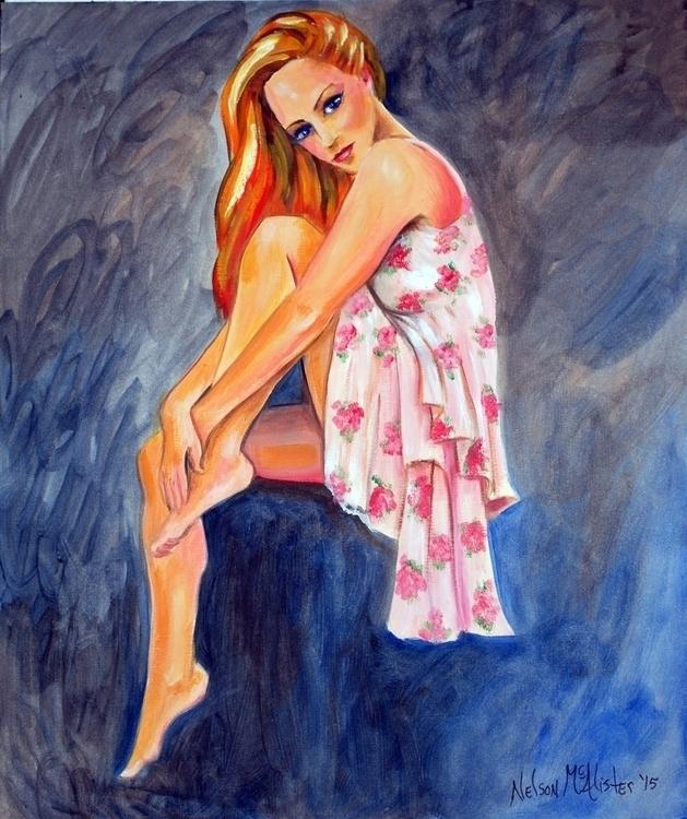 figure study - woman, painting - maryann-6495 | ello