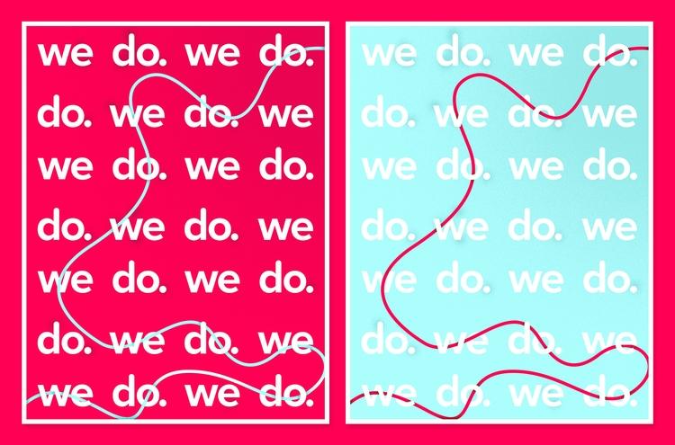 Wedo - Poster - design, typography - miguelduart | ello