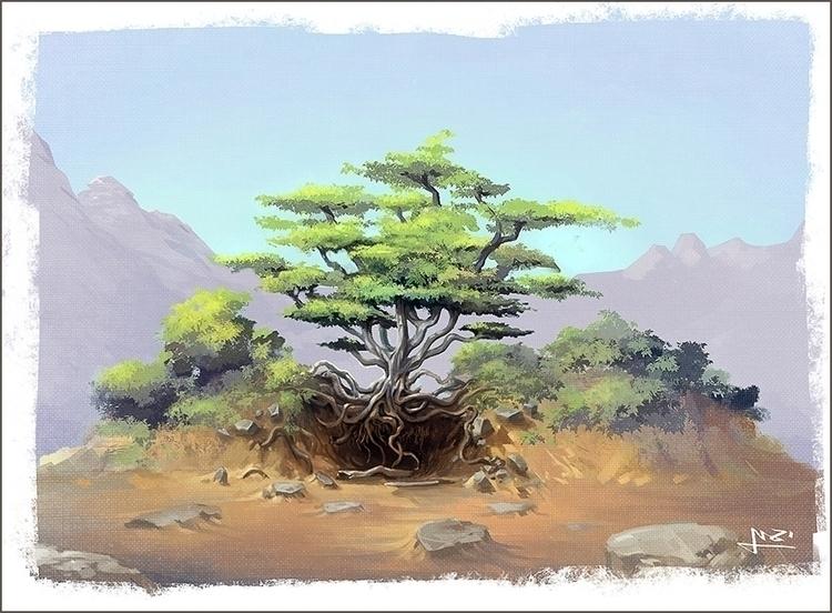 2016 Environment concept sketch - yarongranotart   ello