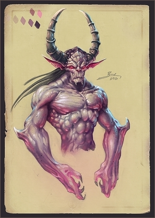 2016 Demon concept - illustration - yarongranotart | ello