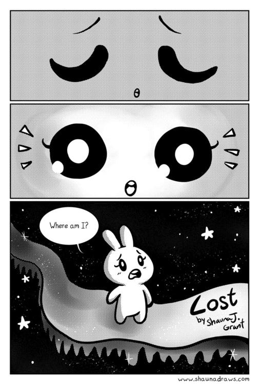 page comic Lost - comics, bunny - shaunadraws | ello