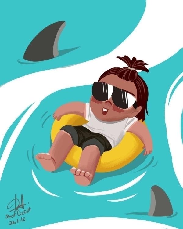sea - illustration, digitalart - sweetcocoa | ello