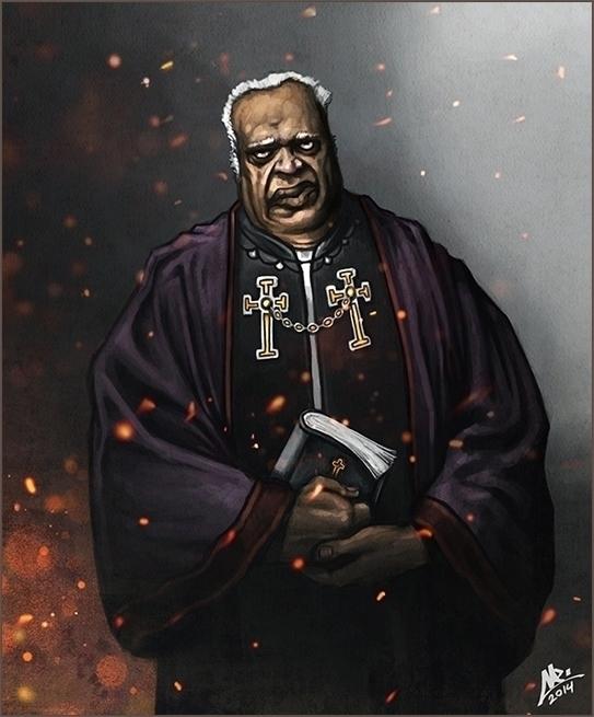2014 Black Priest - illustration - yarongranotart | ello