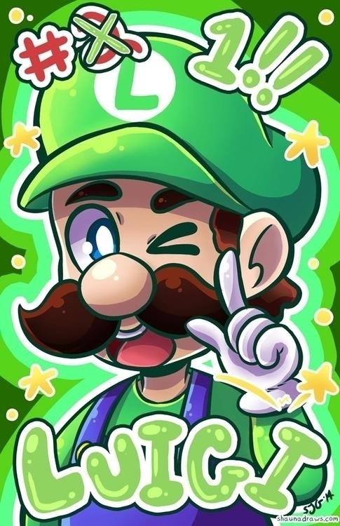 Luigi - fanart, nintendo, luigi - shaunadraws | ello