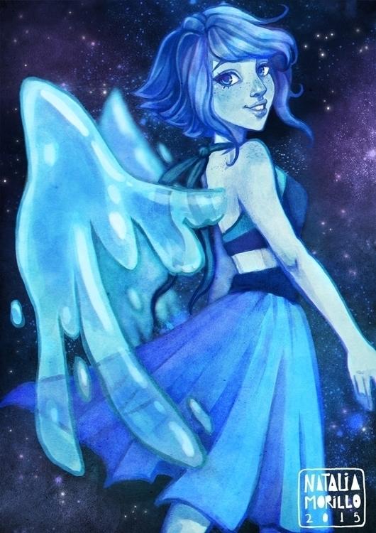 Lapis Lazuli - illustration, drawing - natarya | ello