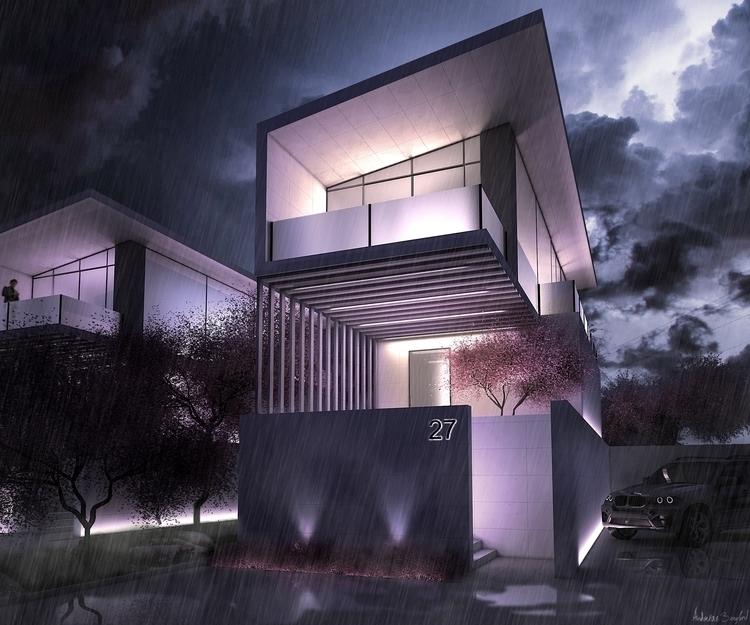 Modern box house - 3d, architecture - andreasb-9954 | ello
