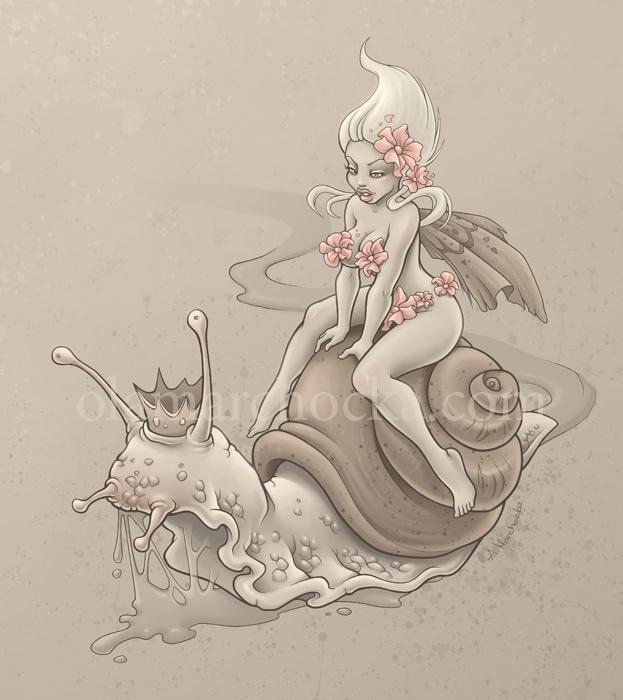 Snail Prince - snail, fairy, fairytale - aleksandracupcake | ello