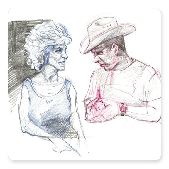 couple drawings sketchbook - davidkelmer - dkelmer | ello