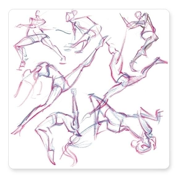 90 gesture drawings athletes Qu - dkelmer | ello