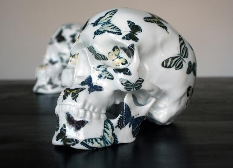 Skull Butterfly Porcelain NooN  - kolintribu | ello