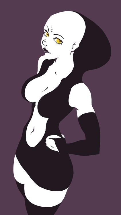 manga, anime, minimalist, shapes - fredericoescorsin | ello