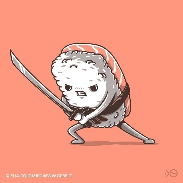 eat - sushi, food, vector, funny - gebe-4724   ello