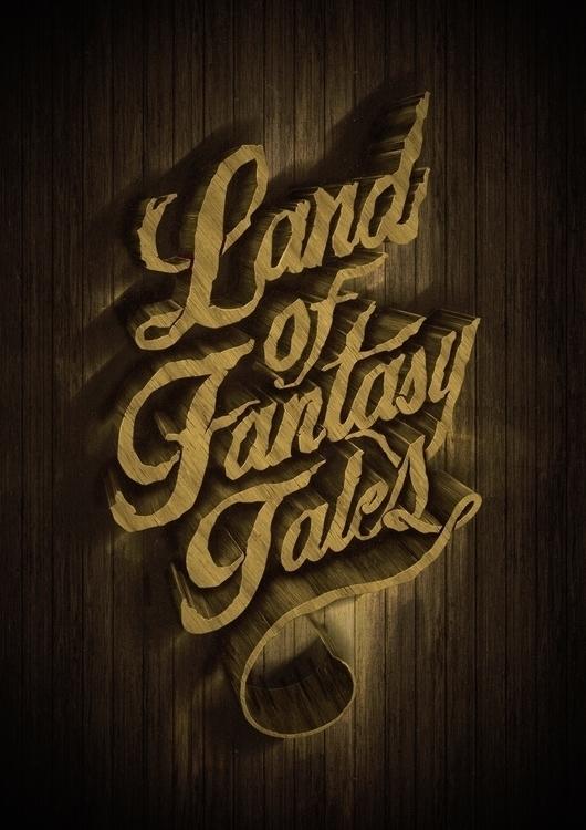 Land fantasy tales , lettering - osmangranda | ello