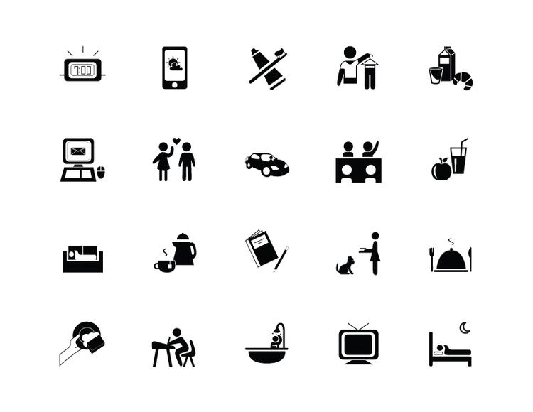 Daily Routine Icon Set - design - jessicaredmond | ello