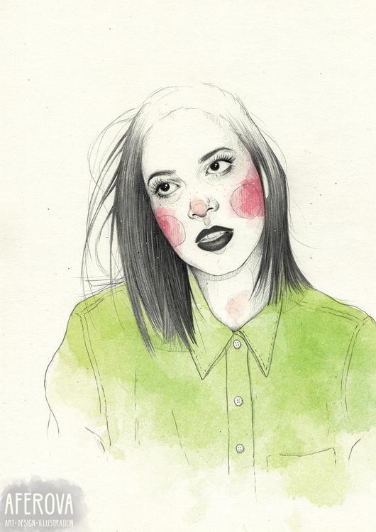 Sophia - illustration, drawing, portrait - aferova | ello