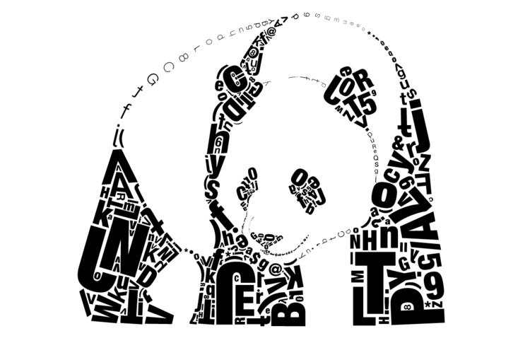 Typographic Panda - panda, animal - jessicaredmond | ello