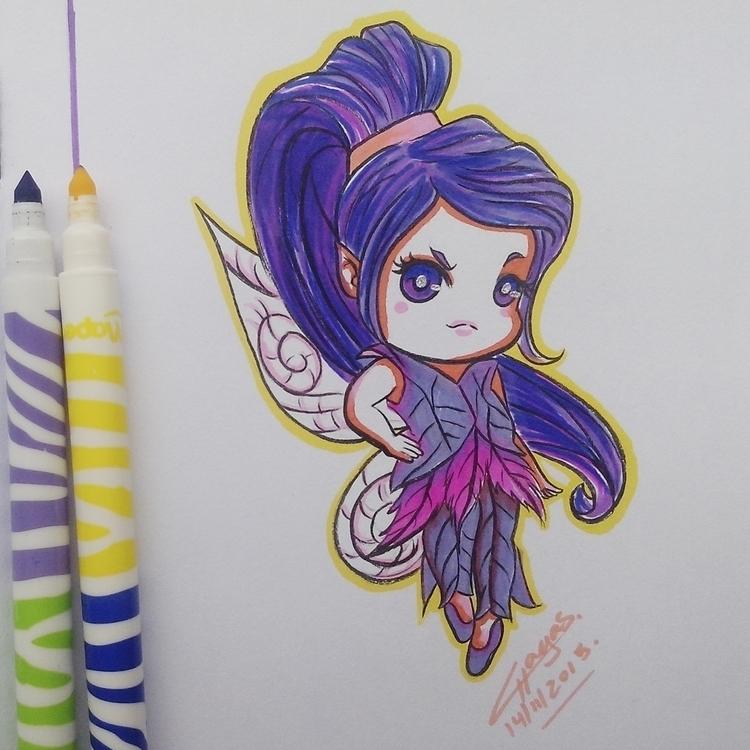 Vidia Tinkerbell. felt pens - illustration - chagasilustracoes-1144 | ello