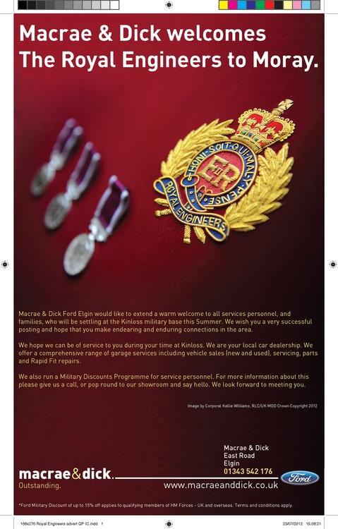 Royal Engineers Press Advert - michaelcook-9580 | ello