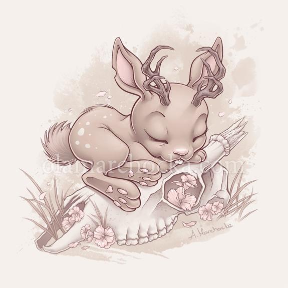 Jackalope Bunny - jackalope, bunny - aleksandracupcake | ello