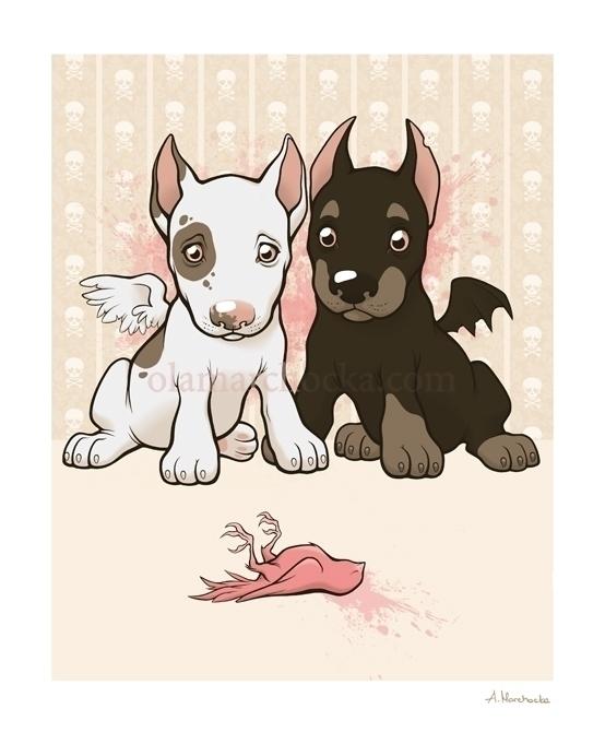 Dead - dog, puppy, dogs, bird, dead - aleksandracupcake | ello