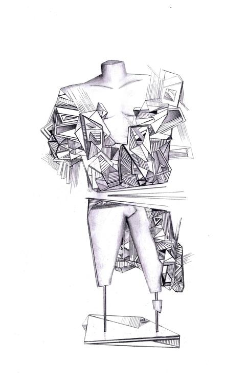 Ruins free hand sketch dedicate - michalis_bompolis | ello