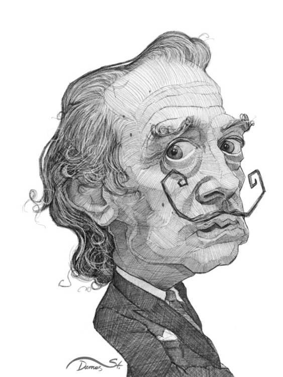 dali, painter, famousfaces, sketch - stdamos | ello