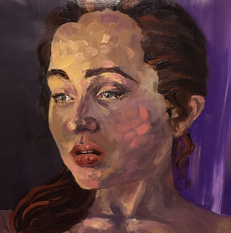 Portrait Oil - illustration, oilpainting - katherinecafaro | ello