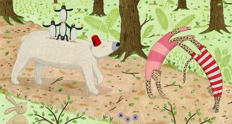 Parade - illustration story - bear - lucyfarfort | ello