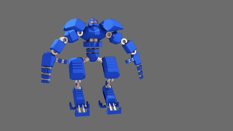 Blue Robot - robot, 3d, blender - alimayoarango | ello