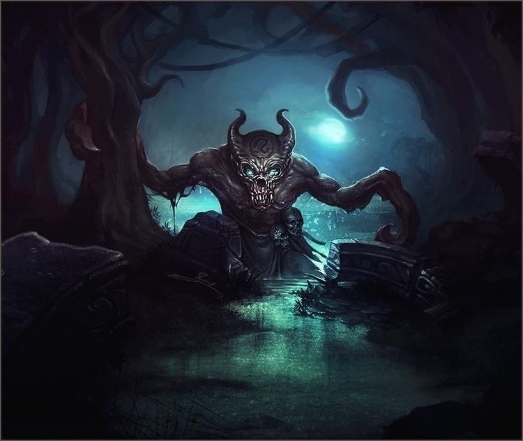 2015 Swamper - demon, conceptart - yarongranotart   ello