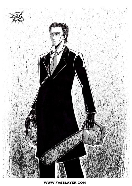 American Psycho - ilustracion, drawing - fasslayer | ello