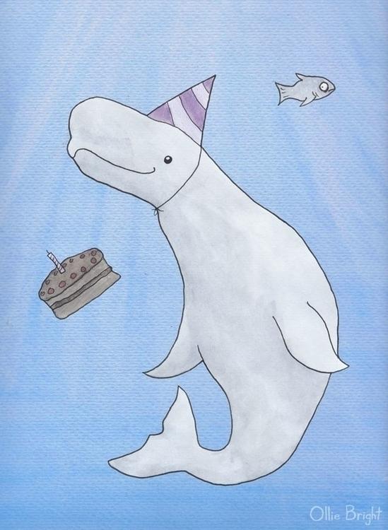 Birthday Beluga - birthday, beluga - olliebright | ello