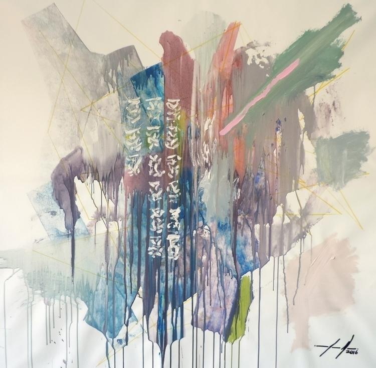 Celeste Acrylic Canvas 100x100  - joaonepomuceno | ello