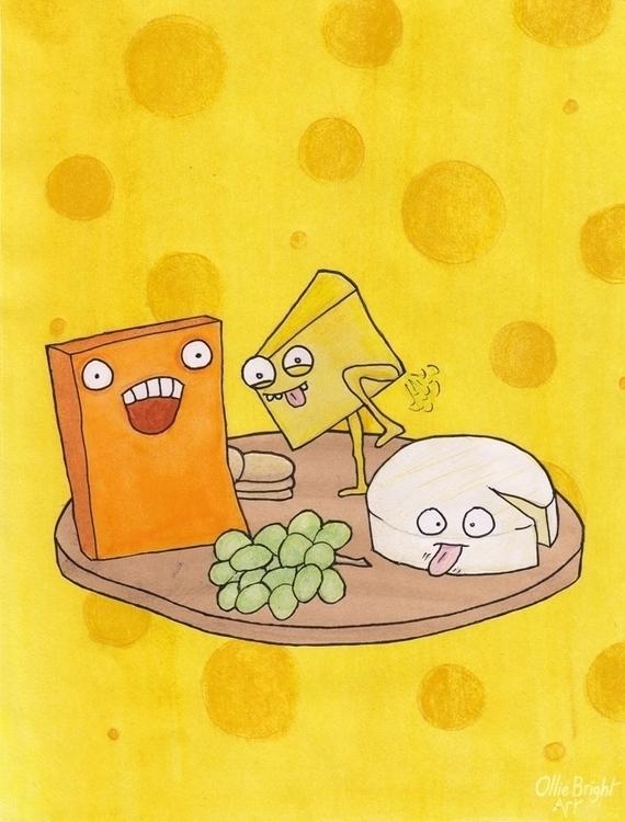 Immature Cheese - cartoon, illustration - olliebright | ello