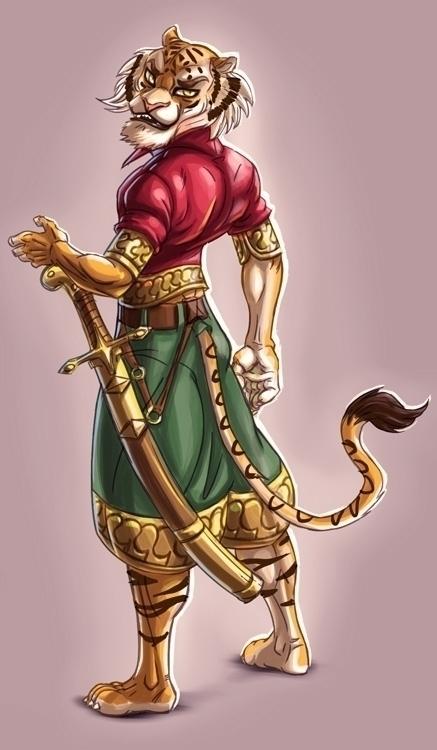 Tiger warriror - characterdesign - jeebah | ello