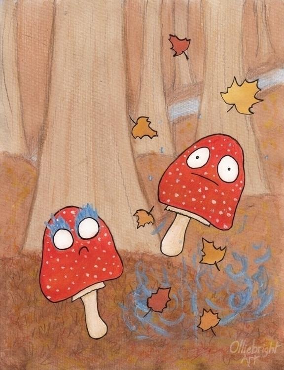 Magic Mushrooms - cartoon, illustration - olliebright | ello