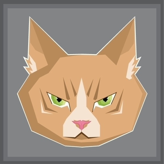 Geometric Cat Face - illustration - jessicaredmond | ello